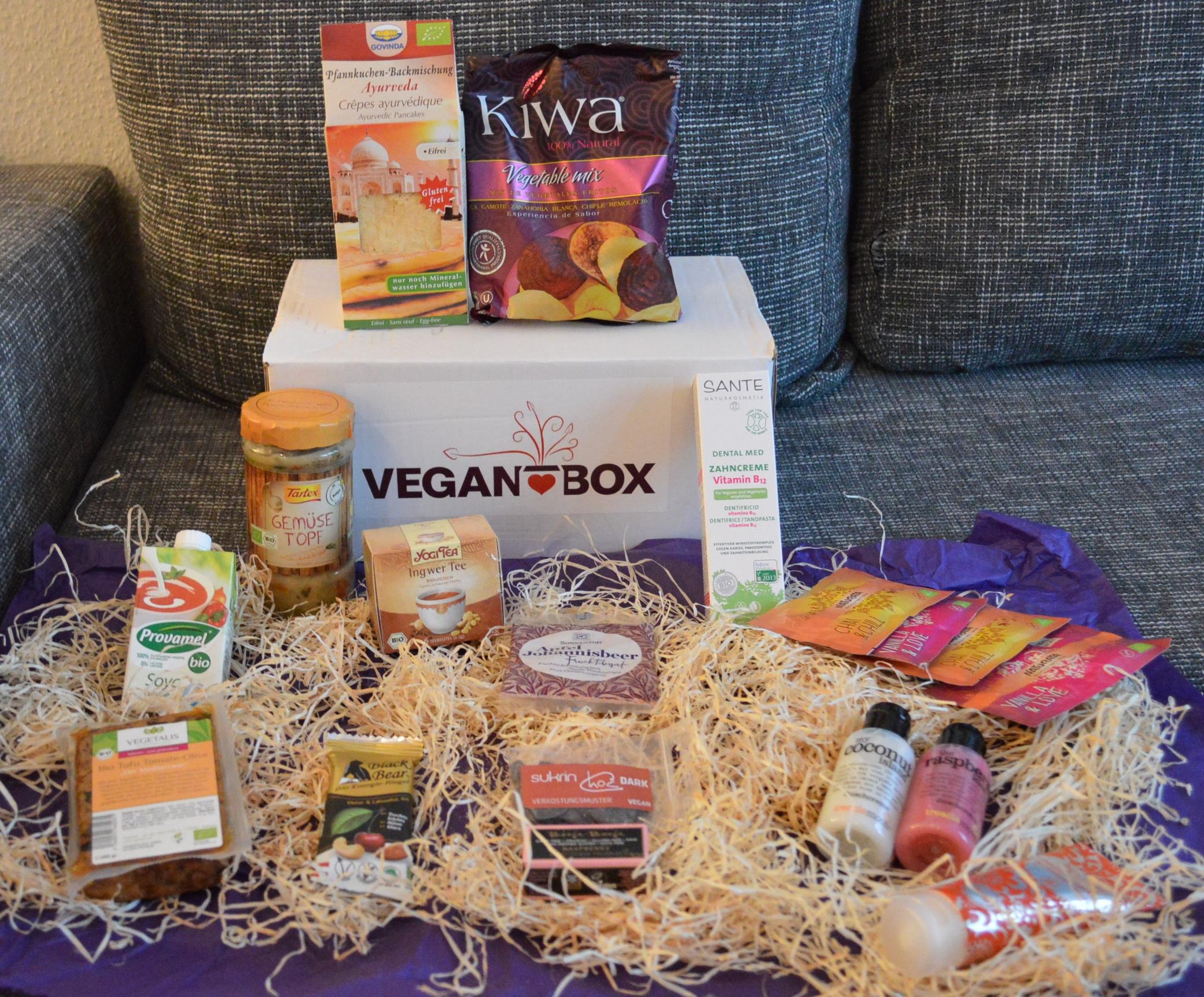 Vegan Box Oktober, vegane Produkte, Provamel, Tofu, Schokolade, Kosmetik