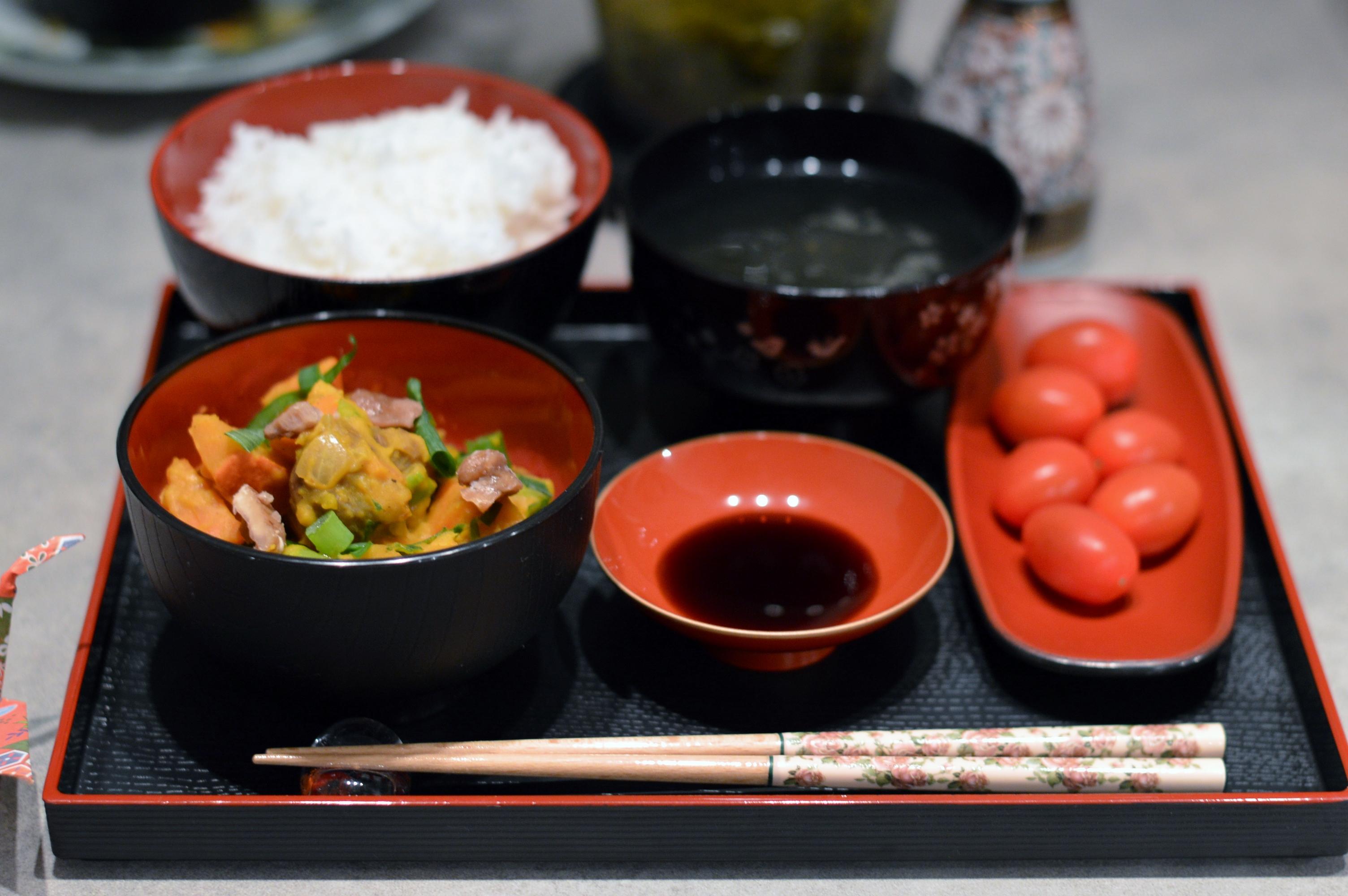 Rezept KürbisKarottenKastanienCurry  Avilias Way ~ Geschirr Japanisch