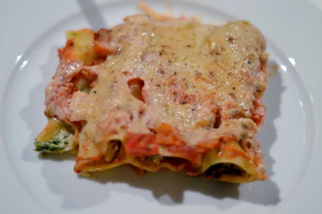 Vegane Cannelloni mit Spinat-Ricotta Füllung