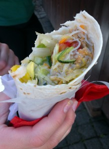 Vegan Wraps auf dem Vegan Street Day in Stuttgart