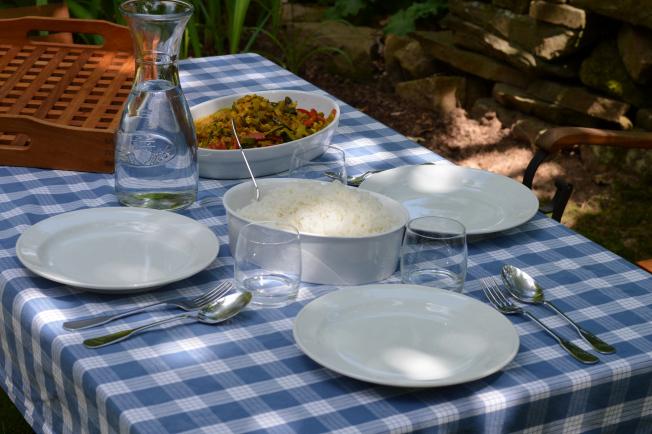 Mittagessen im Garten