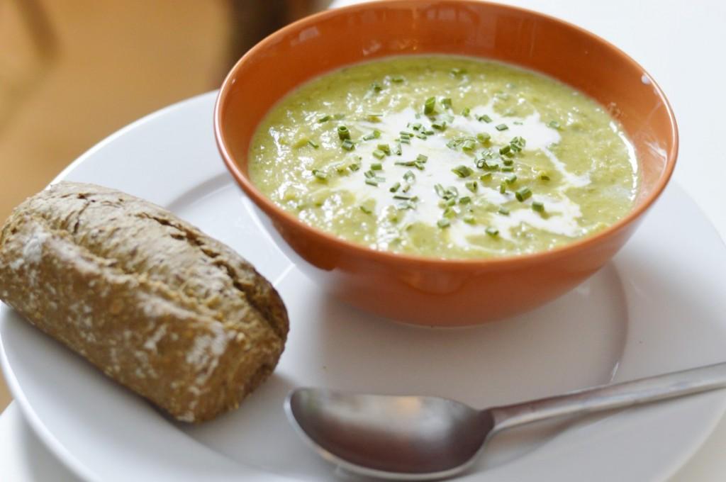 Vegan Rezept Kartoffel-Lauch-Suppe
