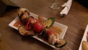 Veganer Gemüsespieß, Café von & zu, Bonn