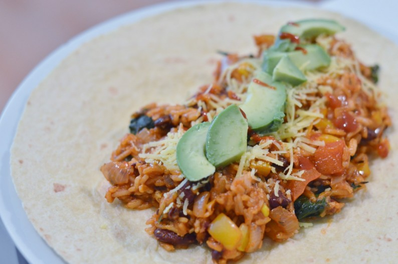 Grundrezept für vegane Burritos