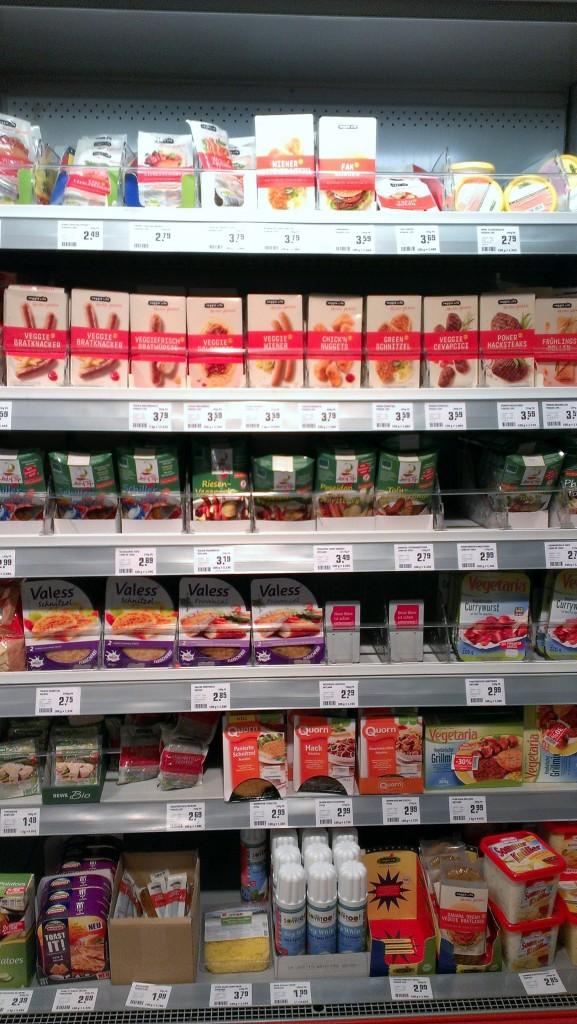 Veganes Veggie Sortiment bei Rewe