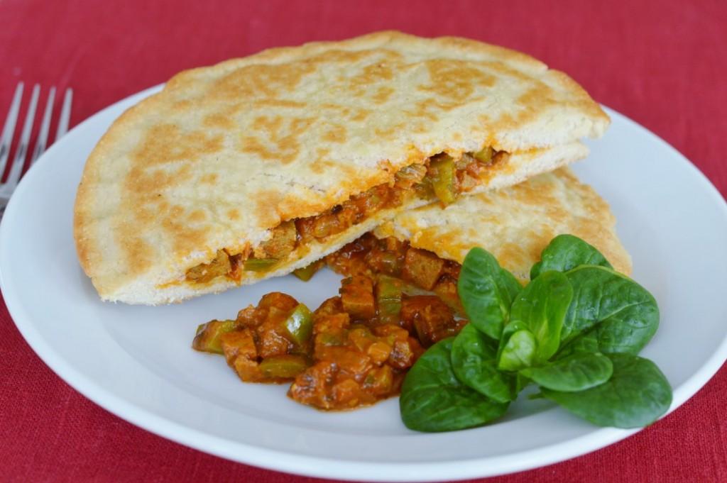 Rezept: veganes Mtabga –gefülltes Pfannenbrot