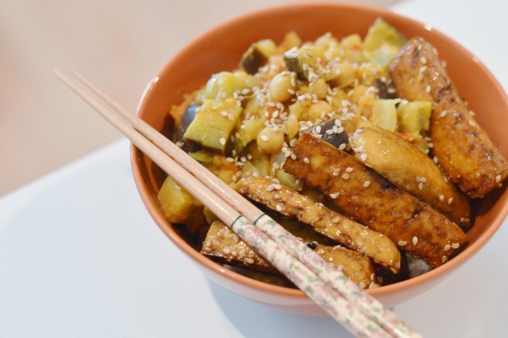 Kichererbsencurry mit Tofu