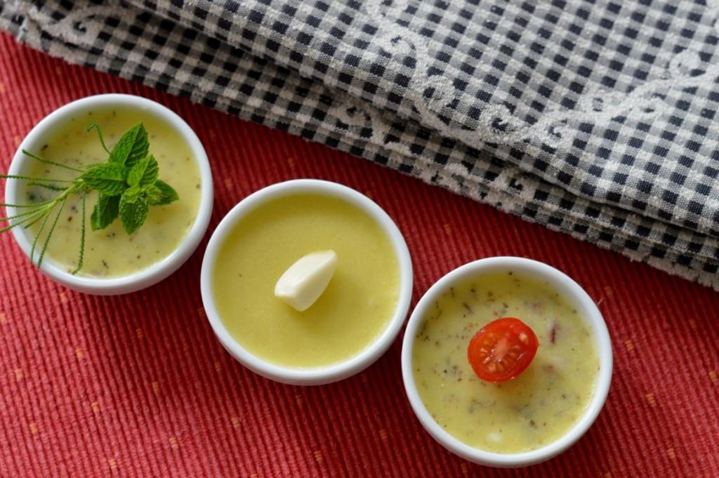Dreierlei vegane Butter selbstgemacht – Kräuter, Knoblauch, Mediterran
