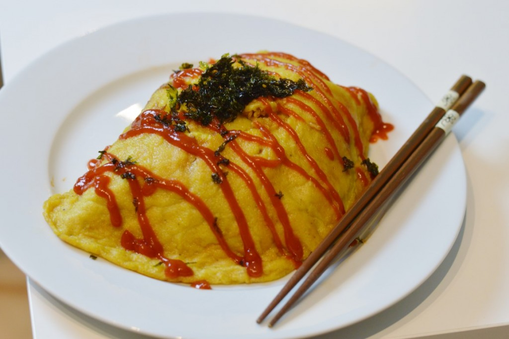 Rezept: オムライス – Vegan Omurice (Japanisches gefülltes Omelette)