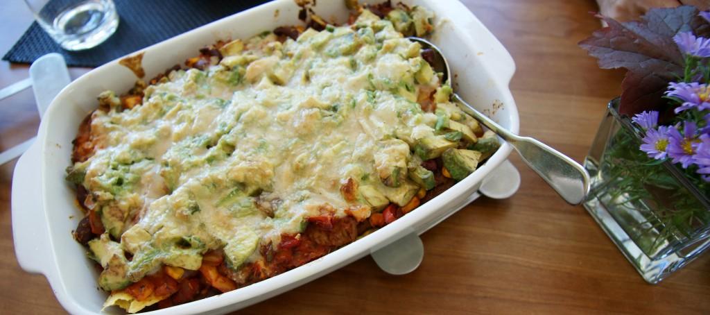 Rezept: Tex-Mex-Tortilla Chip-Auflauf vegan