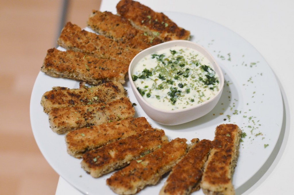 "Rezept: vegane ""Mozzarella"" Sticks"