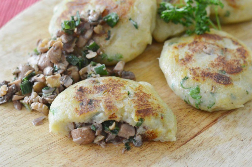 Rezept: Gefüllte Kartoffelpüreeküchlein (vegan, vegetarisch)