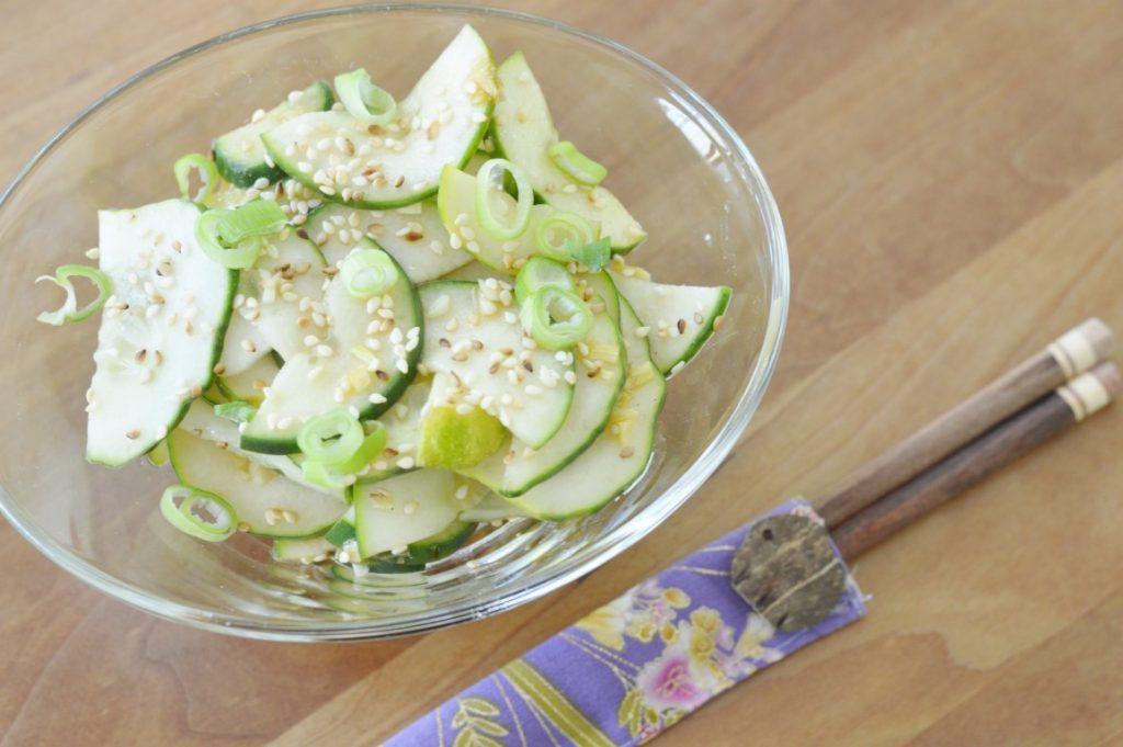 Rezept: Asiatischer Gurkensalat vegan vegetarisch japanisch